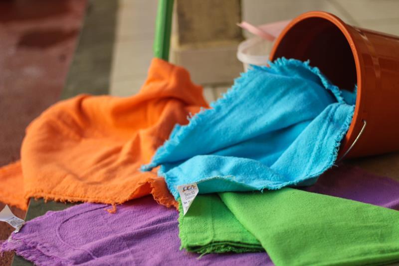 Os panos coloridos tem uma função a mais